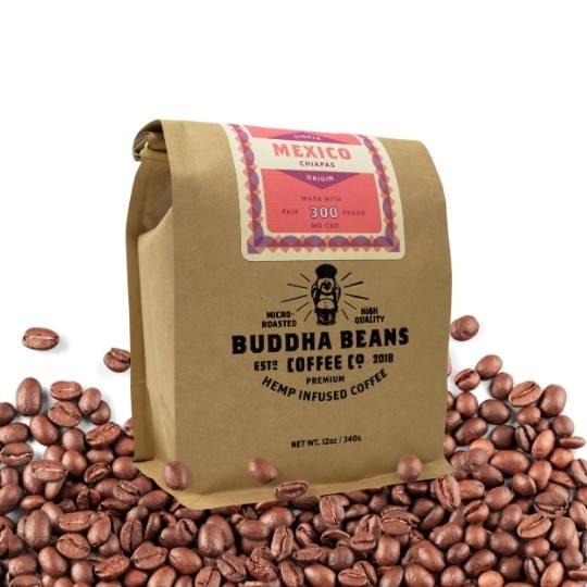 12 oz Organic Mexico Hemp Infused Coffee Beans 1